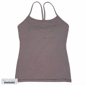 Lululemon Women's Power Y Tank Tonka Stripe Purple